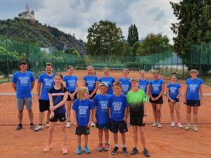 Gruppenfoto Tenniscamp 2020